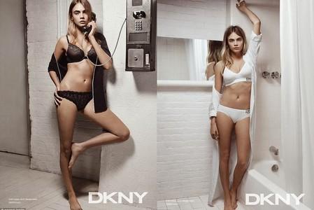 76e0cdd78a Cara Delevingne posa en lencería para DKNY. Aunque estamos acostumbrados a  ver a la modelo inglesa con un look más masculino ...